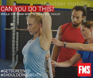 Shoulder Mobility beim Kern Fitnesstest